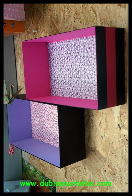 transformer une boite en tag re super cute. Black Bedroom Furniture Sets. Home Design Ideas