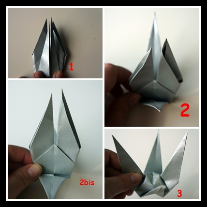 Suspension Grue En Origami